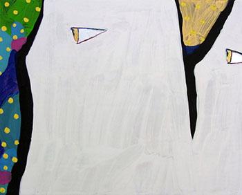 暗黙秘黙, acrylic on panel, 273x220mm, 2015
